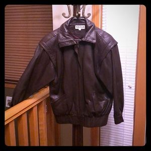 Maglia fine leather ladies jacket-size 4
